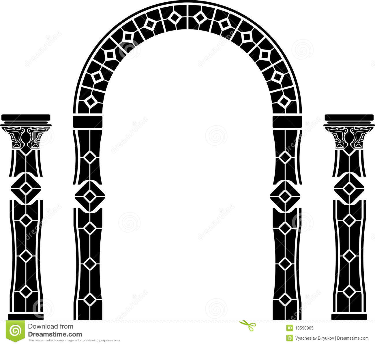 Fantasy Arch And Columns Stock Vector Illustration Of