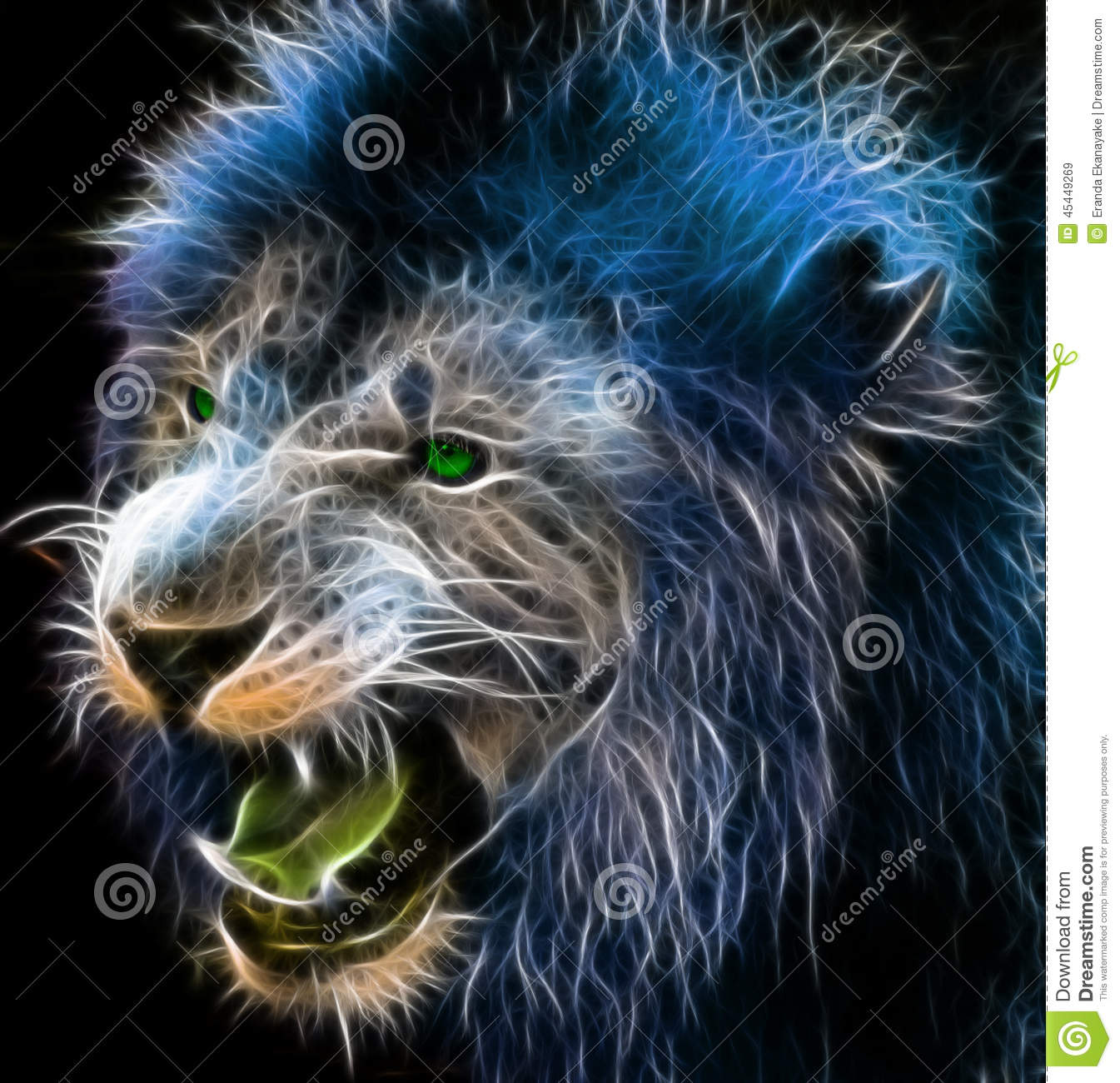 Wallpapers Yin Yang 3d Fantasy Art Of A Lion Stock Illustration Image Of Intuos