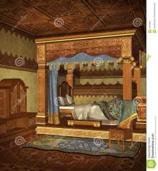 fantasy bedroom medieval bed chamber preview dreamstime