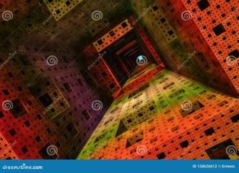 fantasy illustation tower interior 3d illustrazione binnenzijde toren een torre interno tunnel