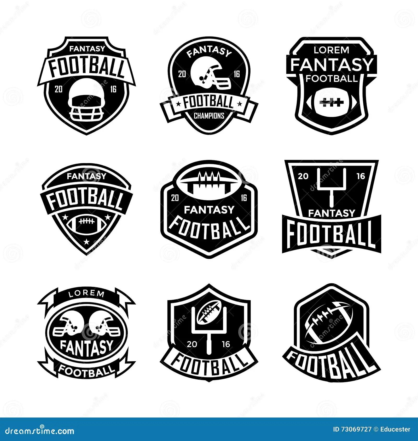 Fantasy Football Vector Icons 13 Stock Illustration