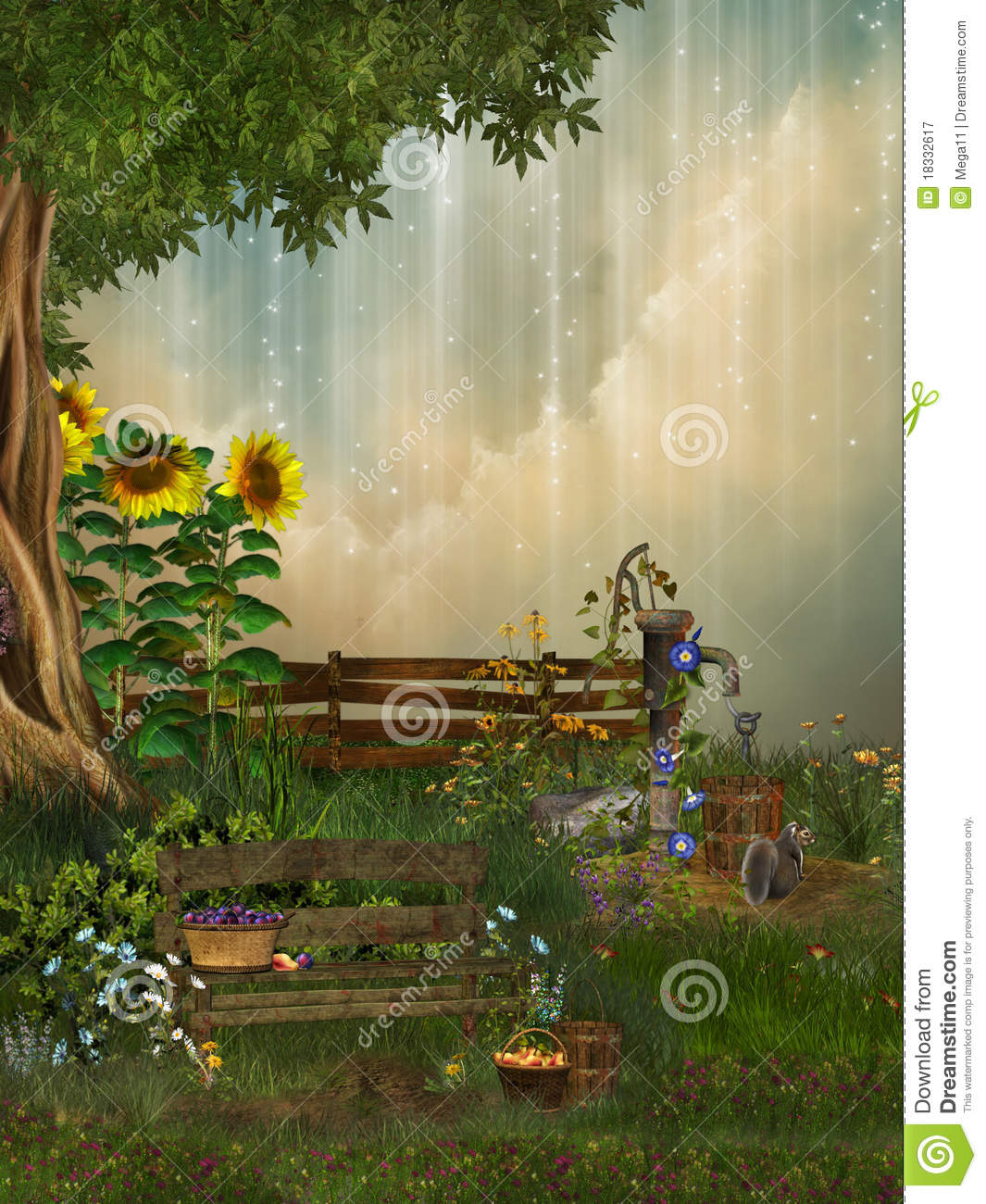 Fantasy Garden Royalty Free Stock Photography  Image 18332617
