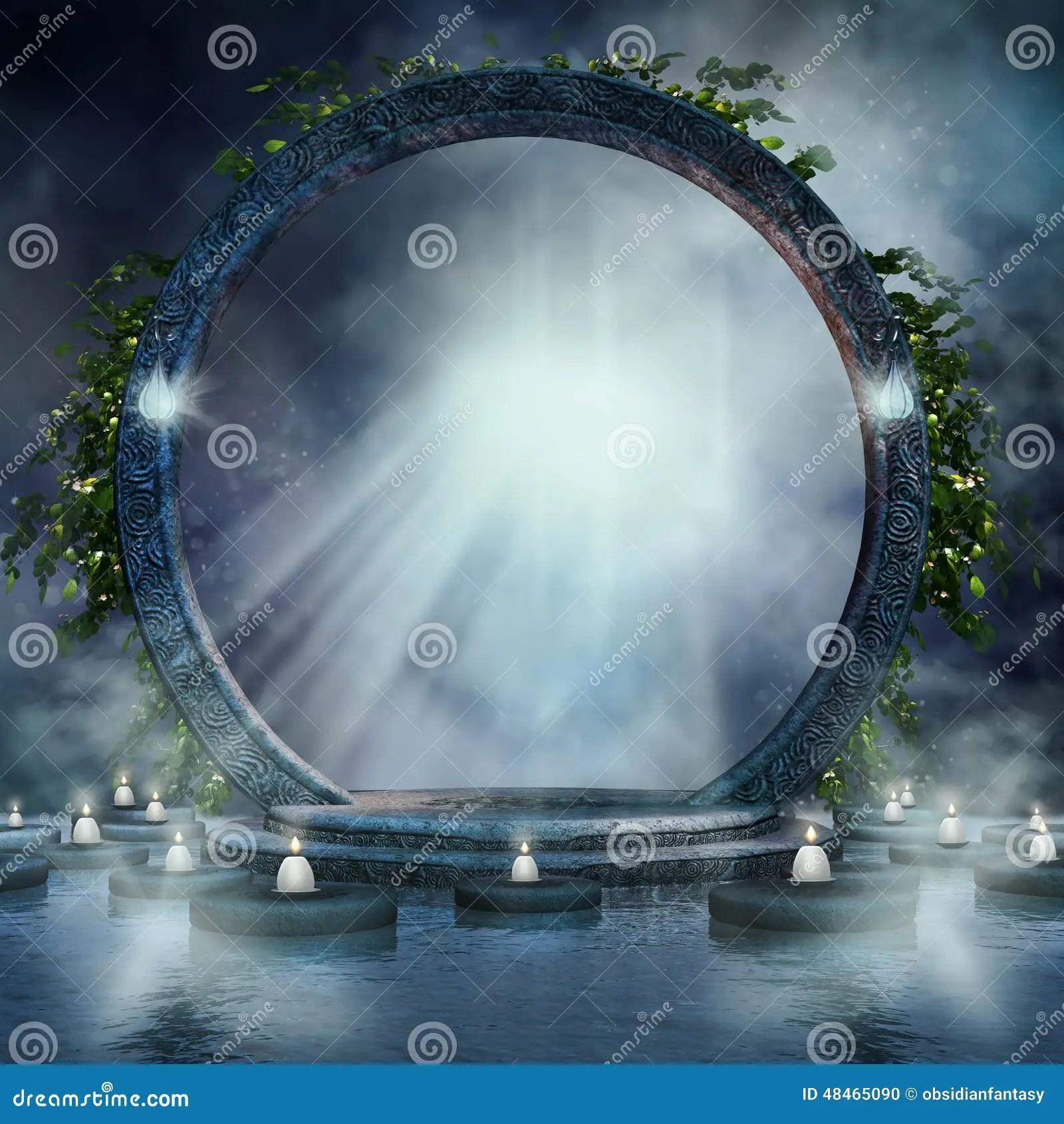 Gravity Falls Wallpaper Forest Fantasy Magic Portal Stock Illustration Image 48465090