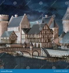 Fantasy Medieval City Stock Illustrations 1 225 Fantasy
