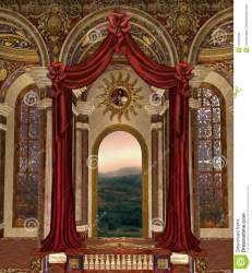 palace fantasy window curtains royalty background dreamstime
