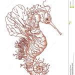 Fantasy Seahorse Stock Illustration Illustration Of Book 69180696