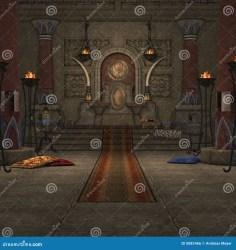 throne room fantasy royalty render 3d preview dreamstime