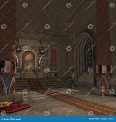 fantasy throne room illustration building preview dreamstime
