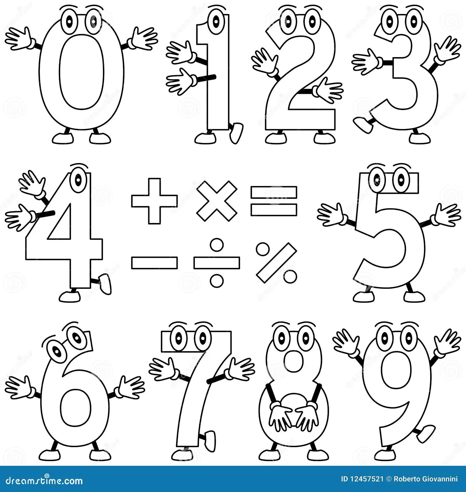 Farbton Karikatur Zahlen Stockbild