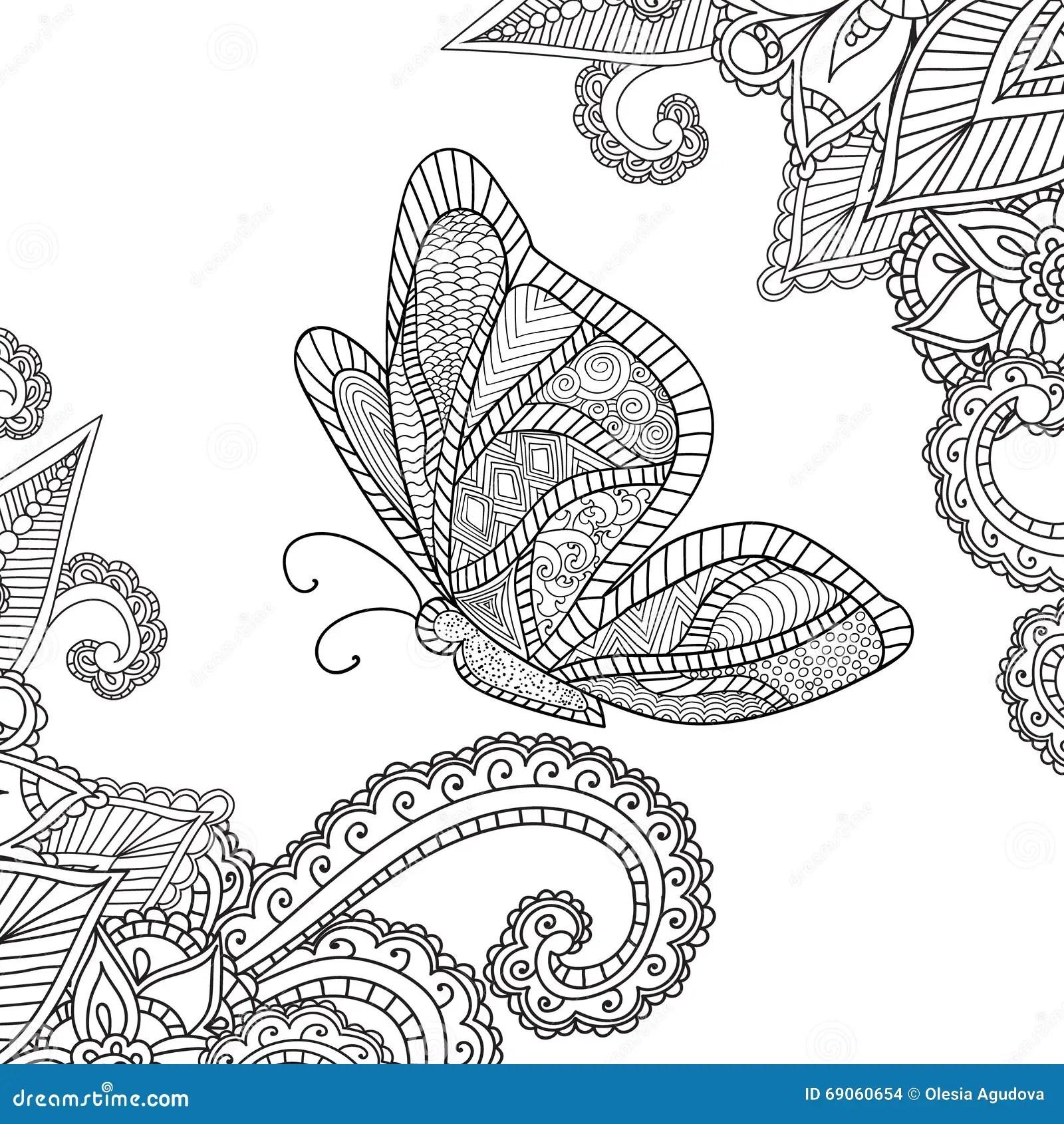 Farbtonseiten Fr Erwachsene Henna Mehndi Doodles Abstract
