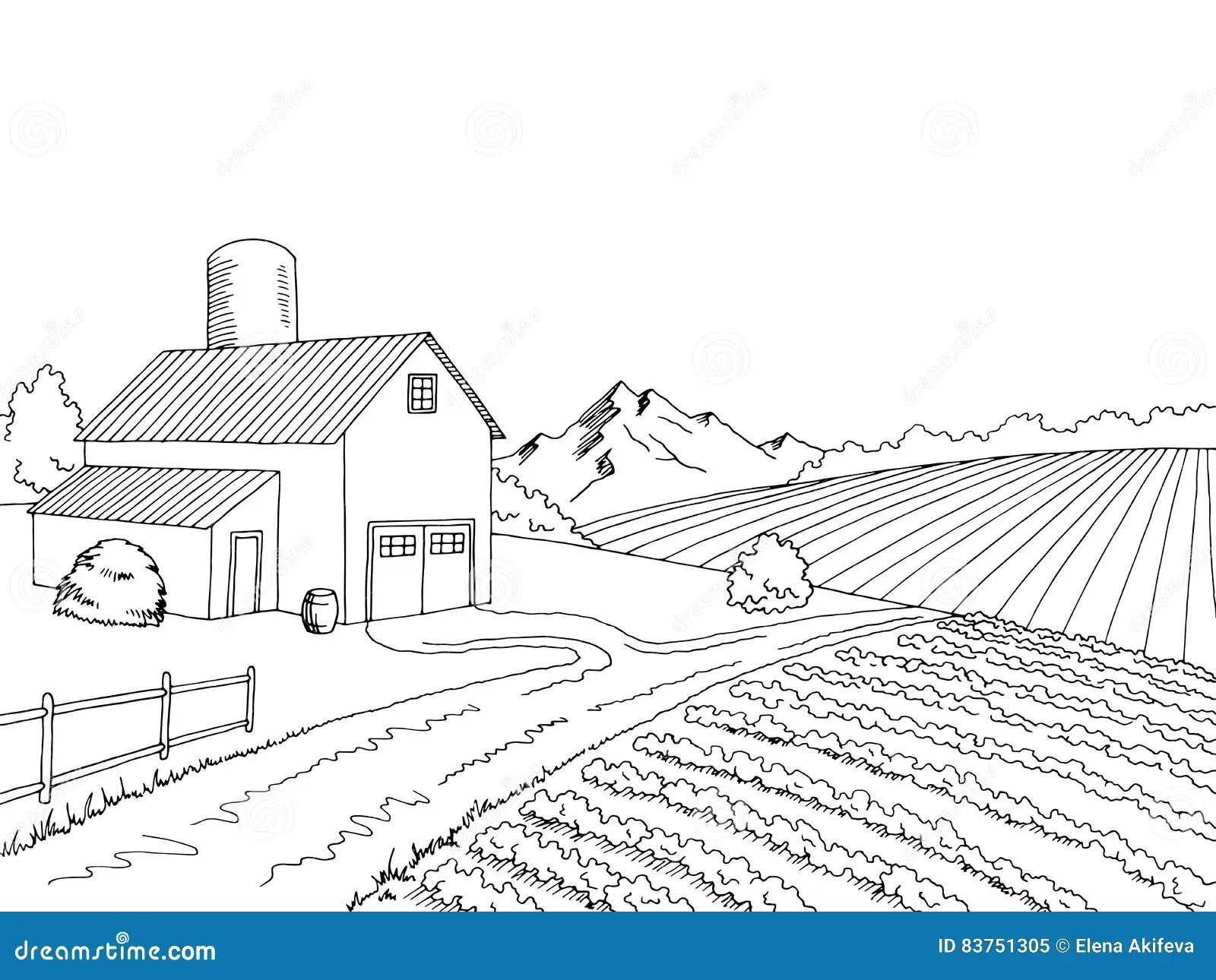Farmer Village Clipart Black And White Creative Ideas