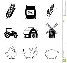 Farm Icons Stock Vector. Of Farming Graphic