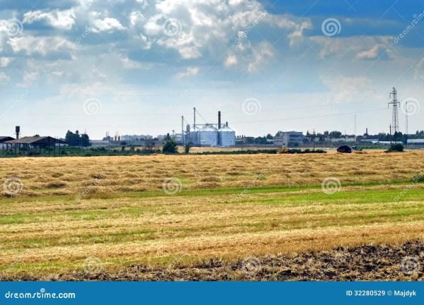 farm landscape royalty free stock