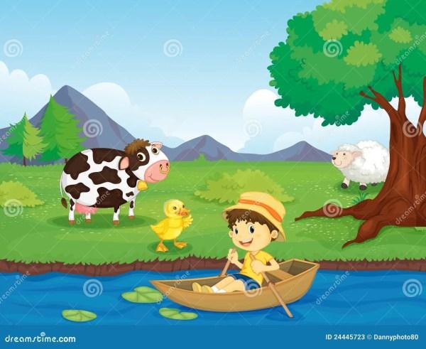 Farm Scene Stock - 24445723