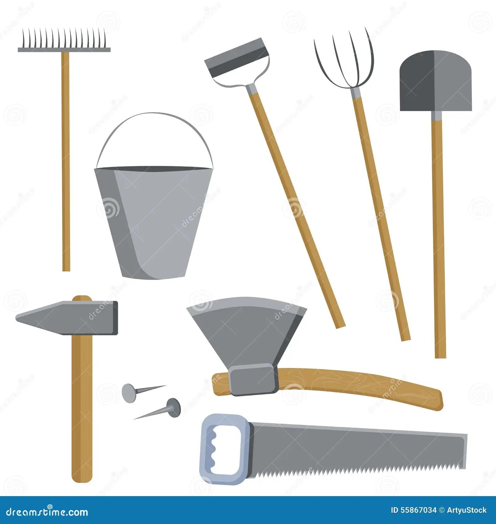 Farm Tools Set Stock Vector Illustration Of Gardener