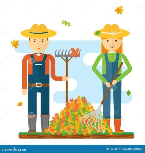 small resolution of farmers raking leaves