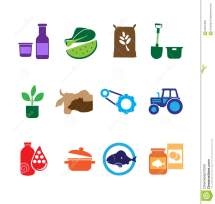 Farming Food And Agriculture Icons Stock Illustration