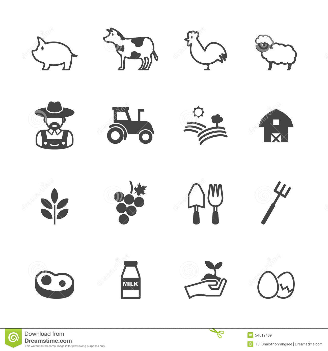 Farming Icons Stock Vector Illustration Of Industry
