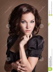 fashion brunette woman with brown