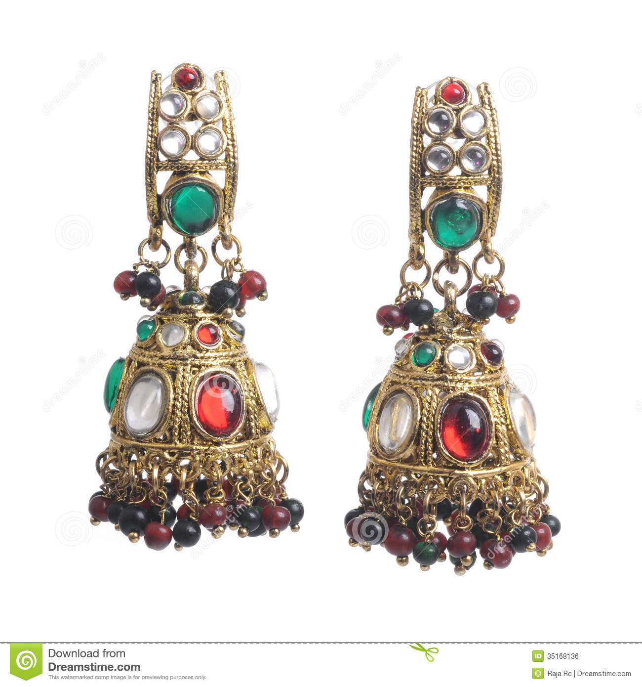 Fashion Earrings Royalty Free Stock Image  Image 35168136