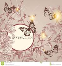 Fashion Invitation Card In Vintage Style Stock Vector ...