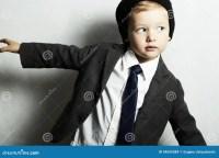 Fashion Little Boy In Tie.stylish Kid. Fashion Children ...