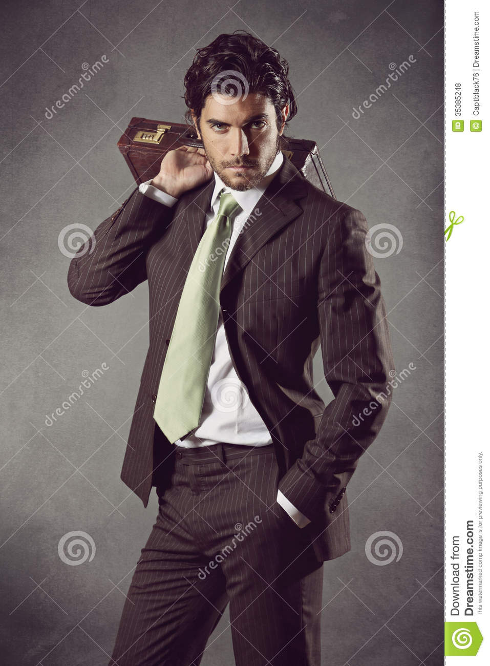 Fashion Male Model In Business Suit Royalty Free Stock