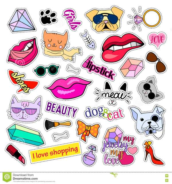 fashion patch badges. cats