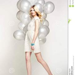 Woman Sitting In Chair Revolving Repairs Hyderabad Fashion Photo Of Beautiful With Balloon. Girl Posing Stock Photography - Image: 30157642
