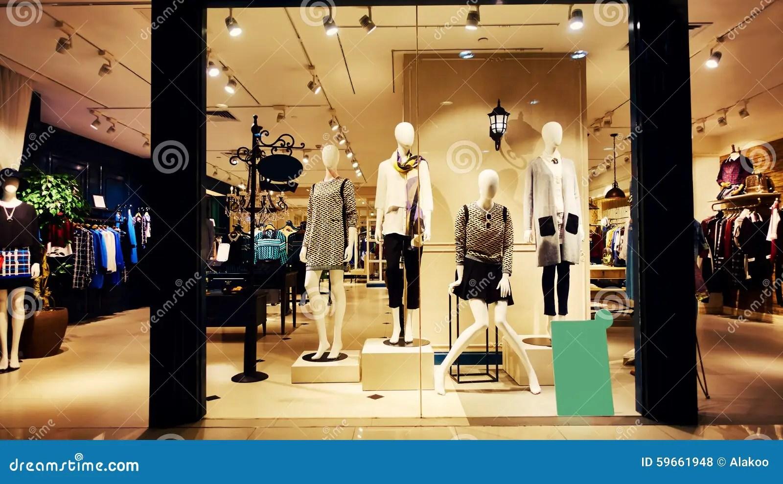 Fashion Shop Boutique Store Stock Photo