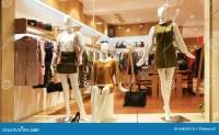 Fashion Shop Window Clothing Store Front Stock Image ...