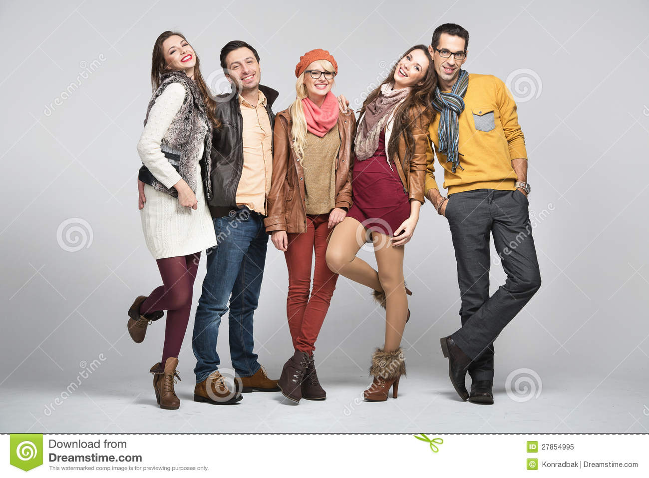 Fashion Style Picture Of Friends Stock Image  Image of