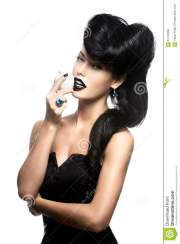 fashion woman with modern hairstyle