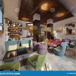Fashionable In Modern Style Library Bar In Art Deco Style