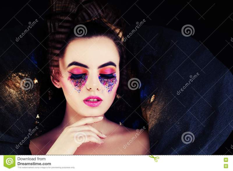 Fashionable Woman Model With Creative