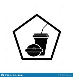 Fast Food Restaurant Icon Vector Isolated On White Background F Stock Vector Illustration of business restaurant: 125391700