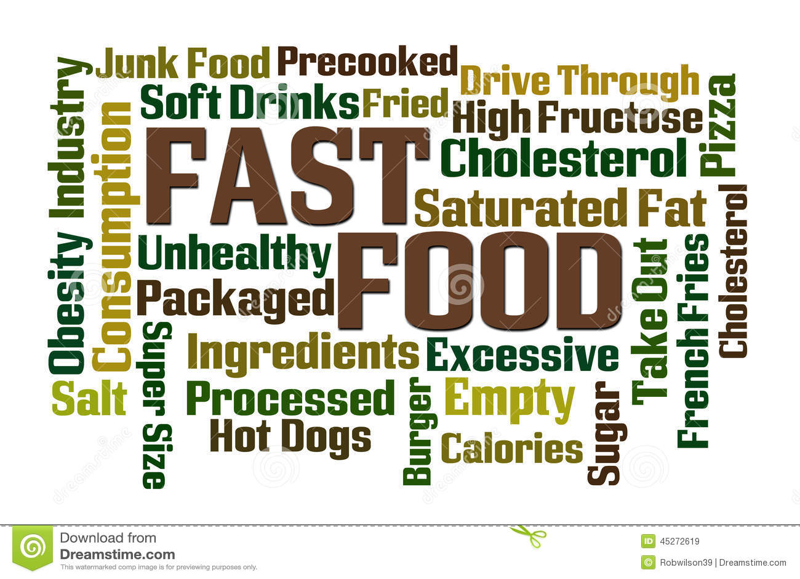 Fast Food Stock Illustration Image Of Junk Consumption