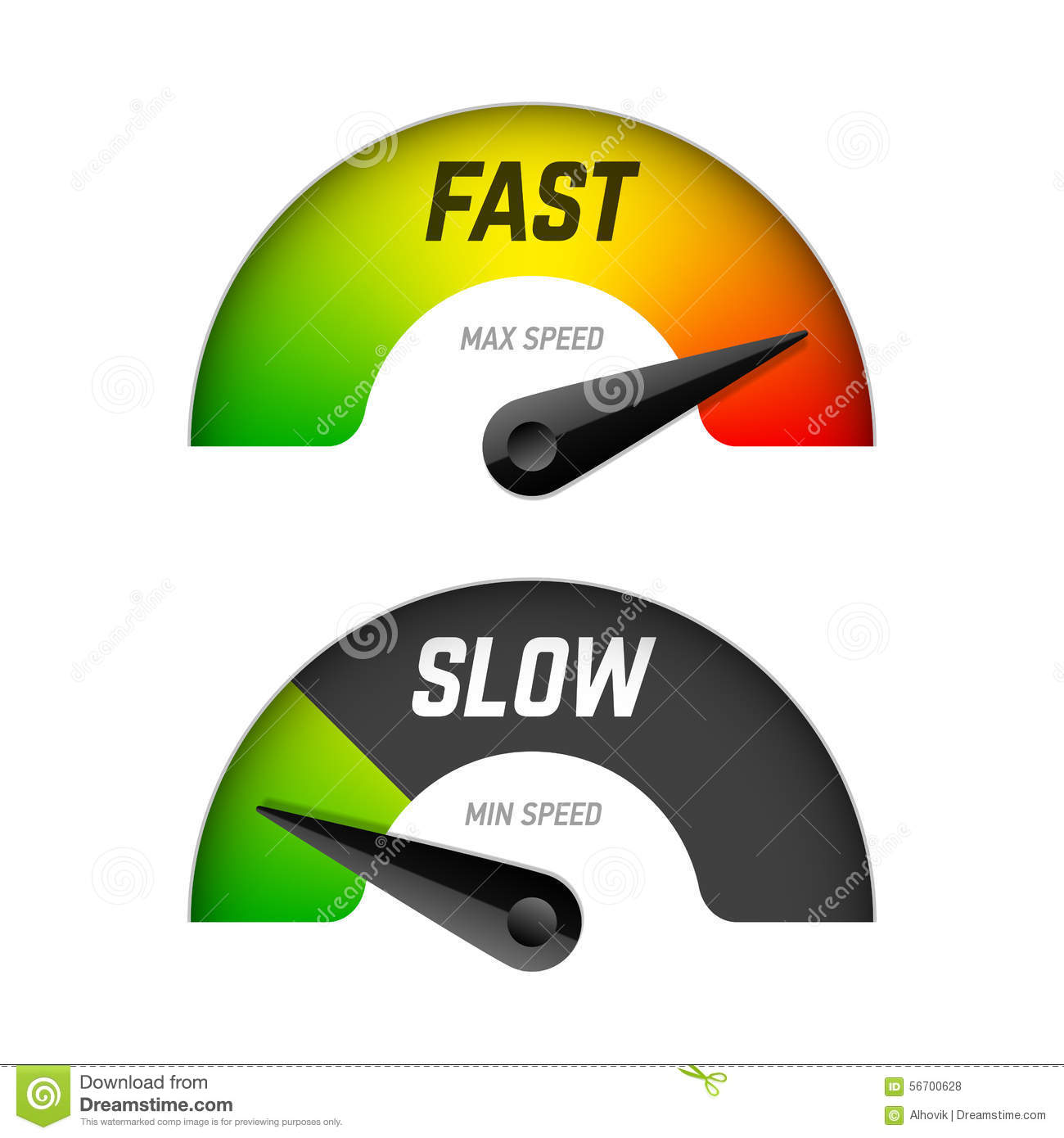 Fast And Slow Download Stock Photo