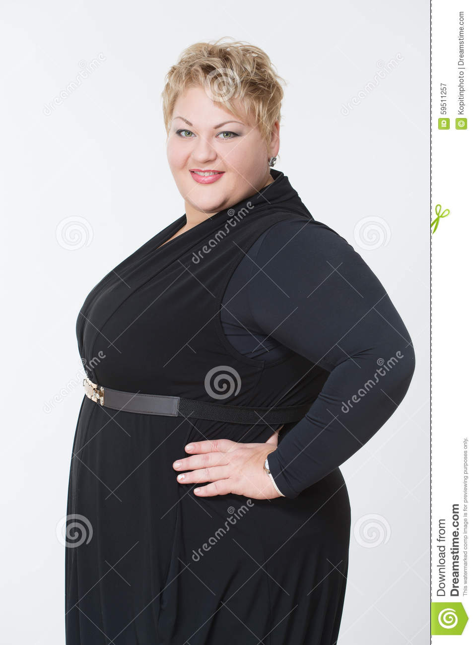Fat Woman In A Beautiful Dress Stock Image - Image of ...
