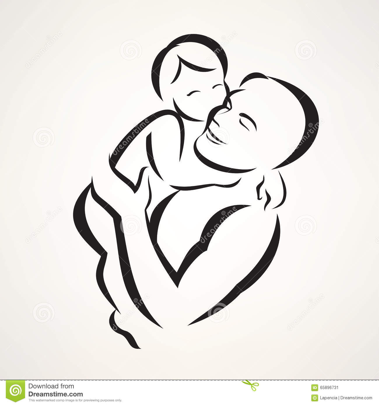 Father And Baby Stock Vector Illustration Of Care Logo