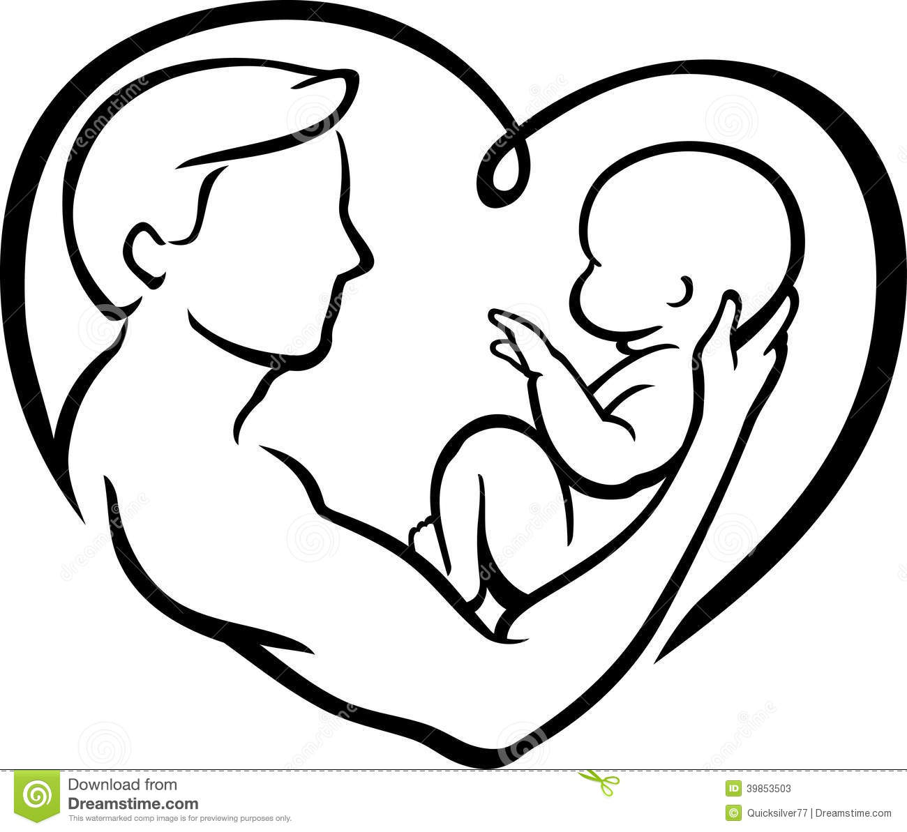 Father S Love Heart Stock Illustration