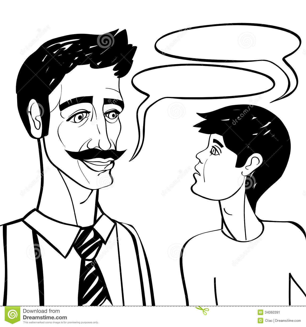 Father And Son Black Stock Illustration Illustration Of