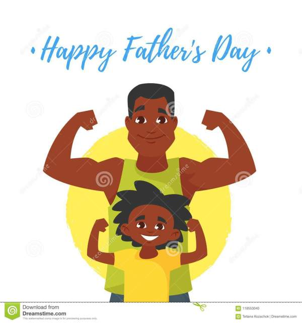 Fathers Day Greeting Card Stock Vector. Illustration Of