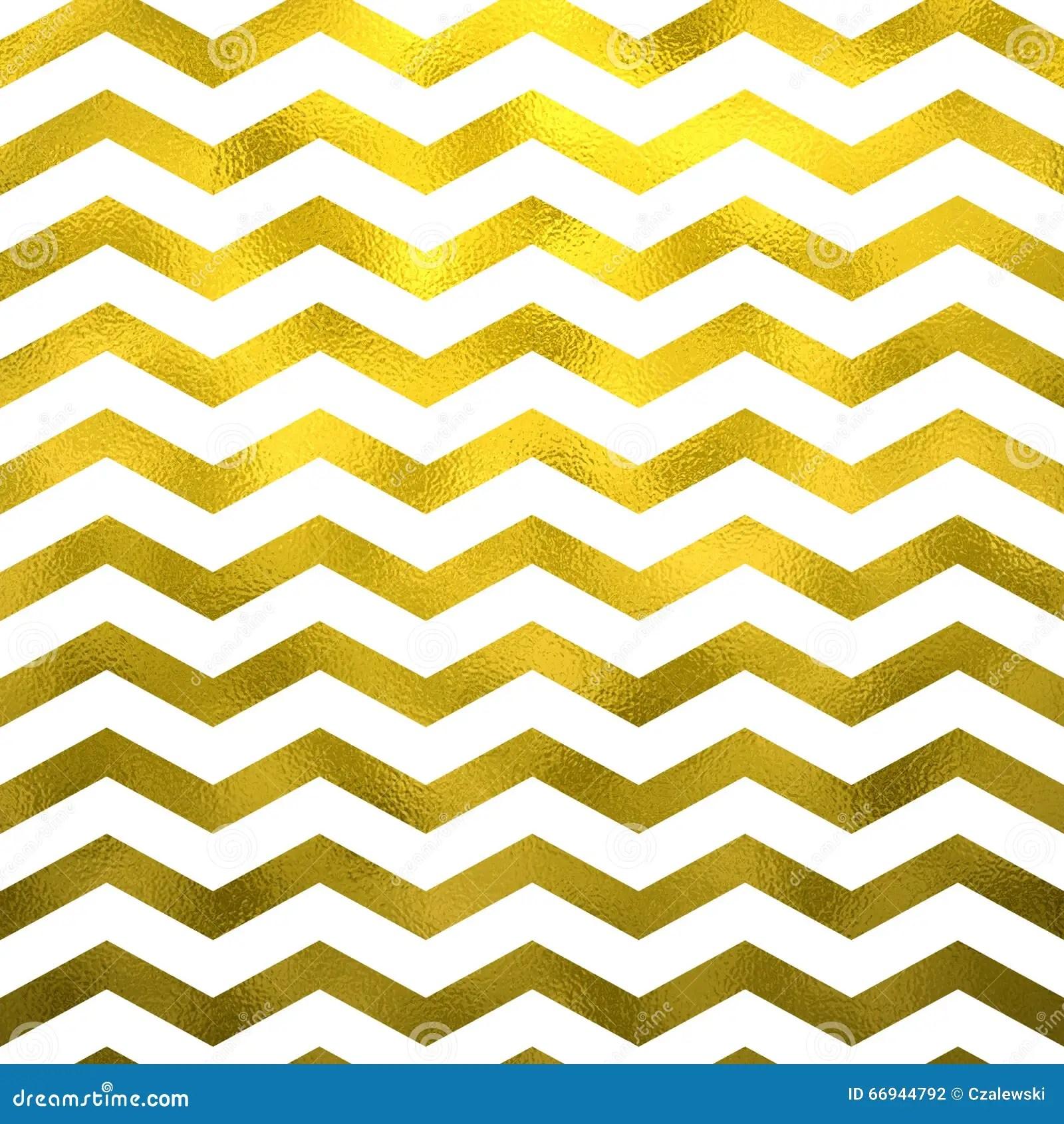 Faux Gold White Foil Metallic Chevron Pattern Chevrons