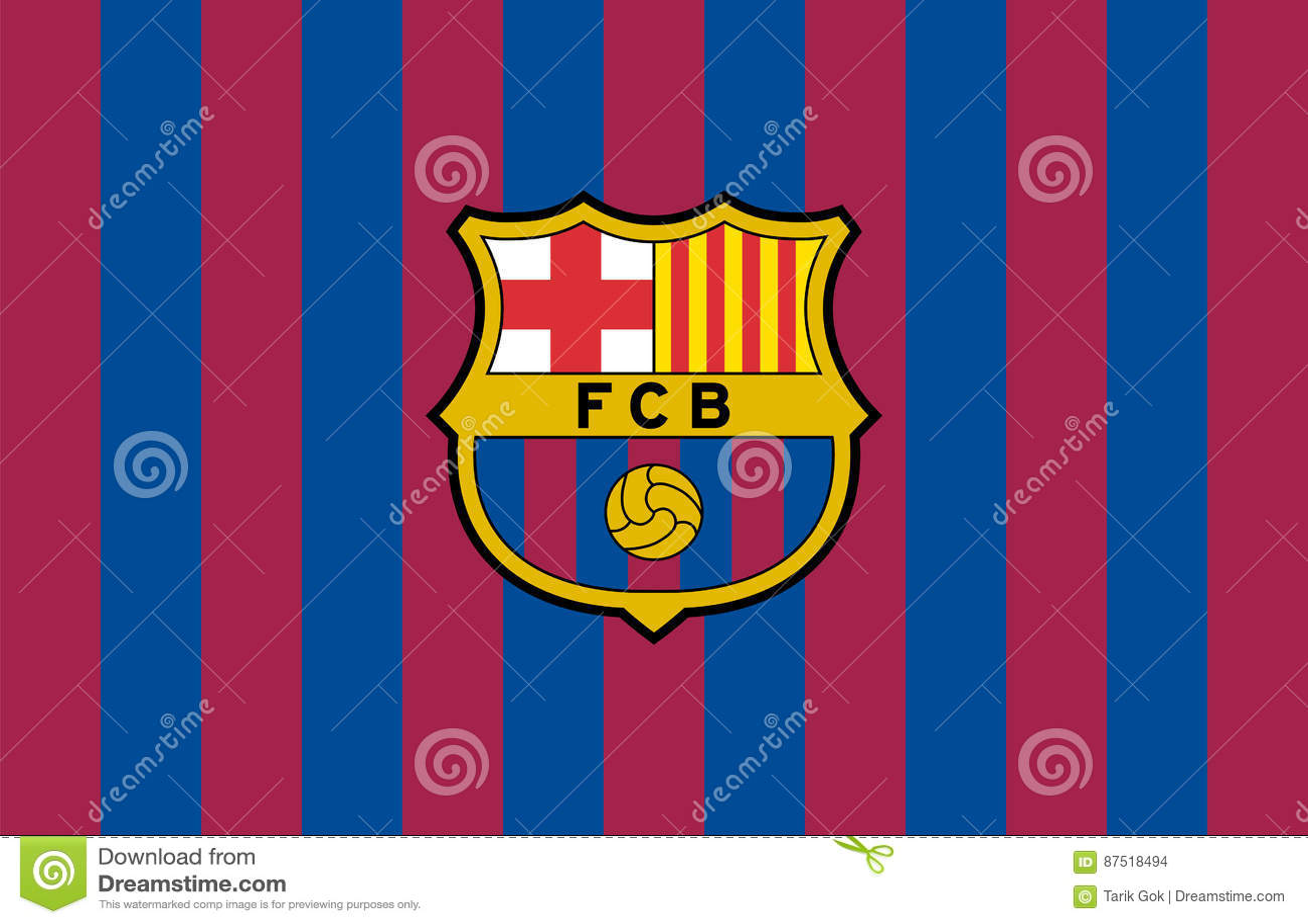 fc barcelona logo editorial