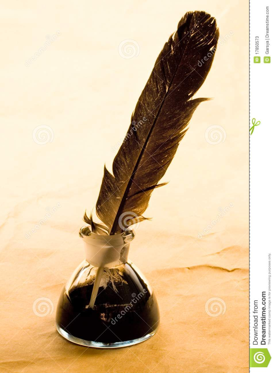 Feather And Ink Bottle Stock Photos  Image 17850573