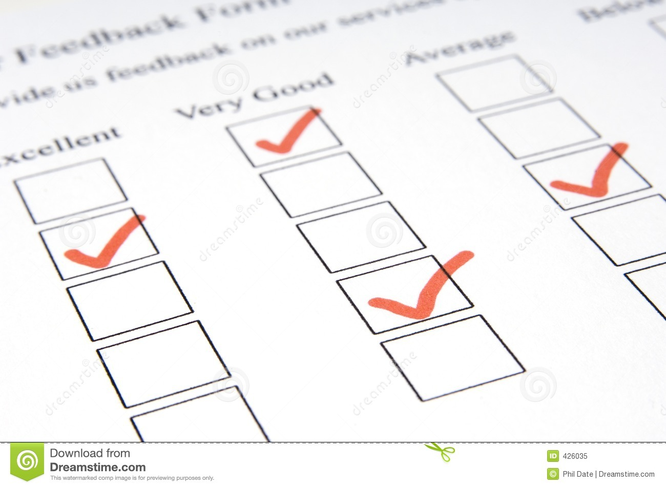 Feedback Form #3 stock image. Image of relations