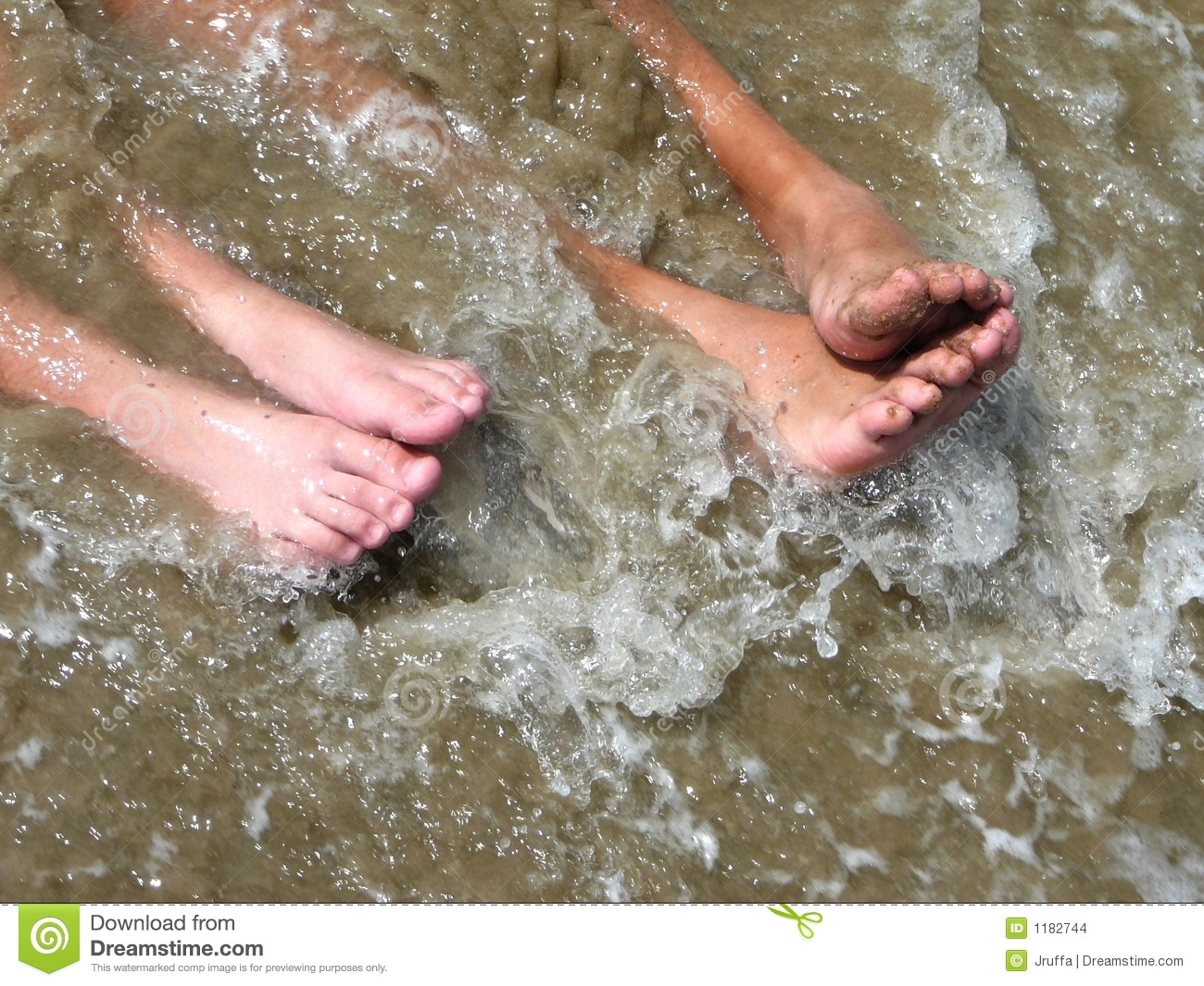 Feet In The Ocean Surf Stock Images  Image 1182744