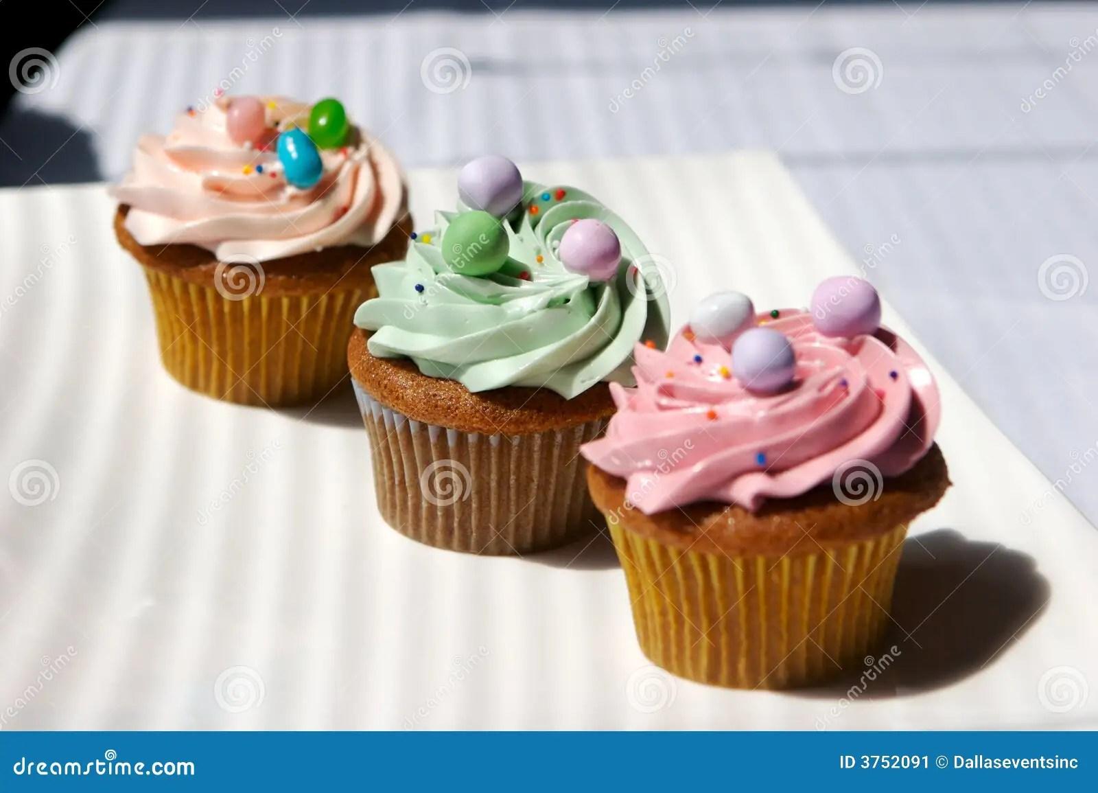 Feinschmecker Verzierte Kleine Kuchen Stockbild  Bild