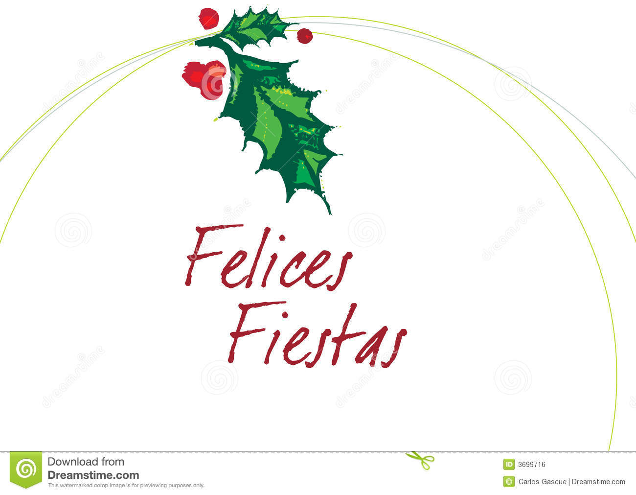 FELICES FIESTAS Blanco Royalty Free Stock Image Image